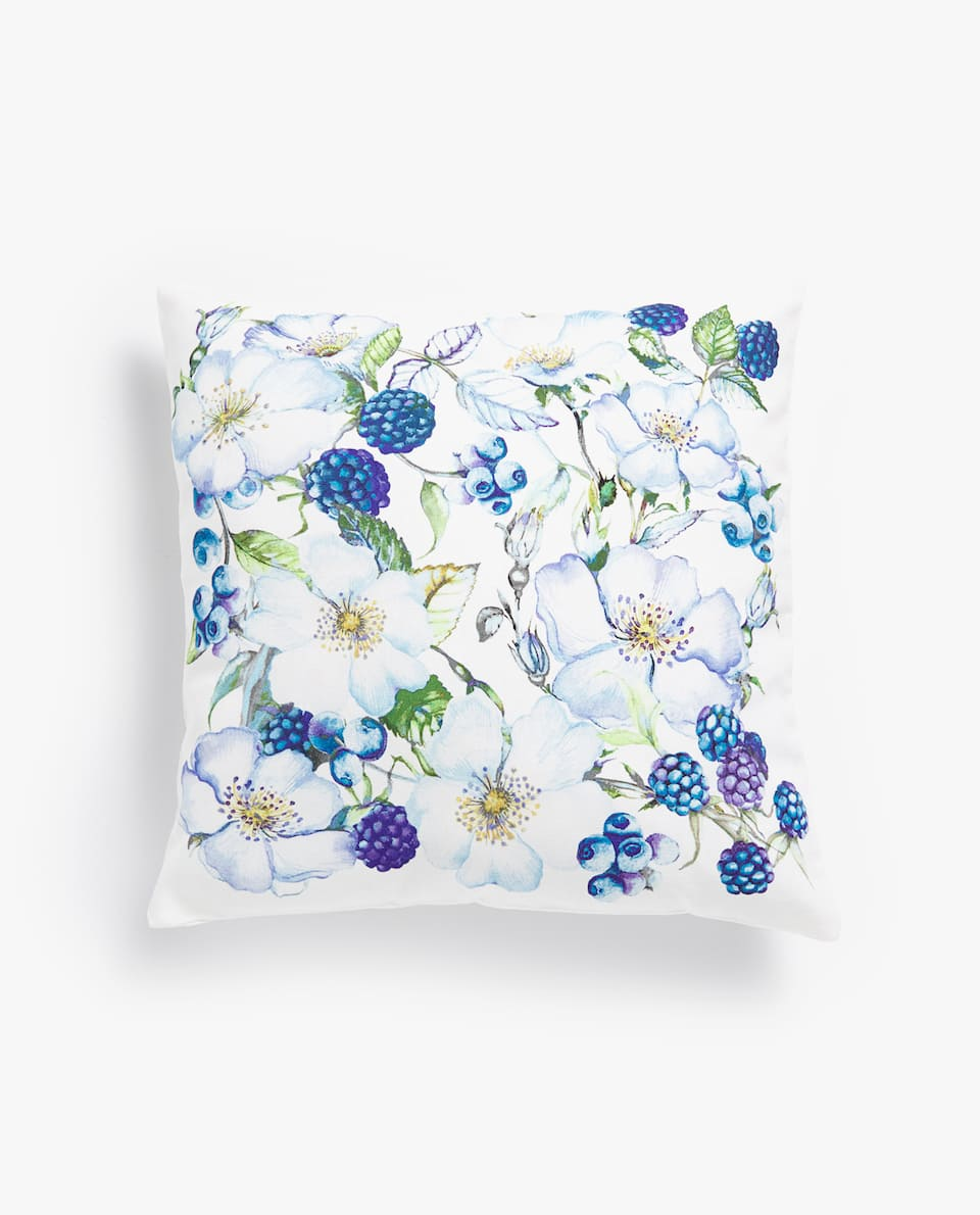 BLUEBERRY COTTON PILLOW COVER