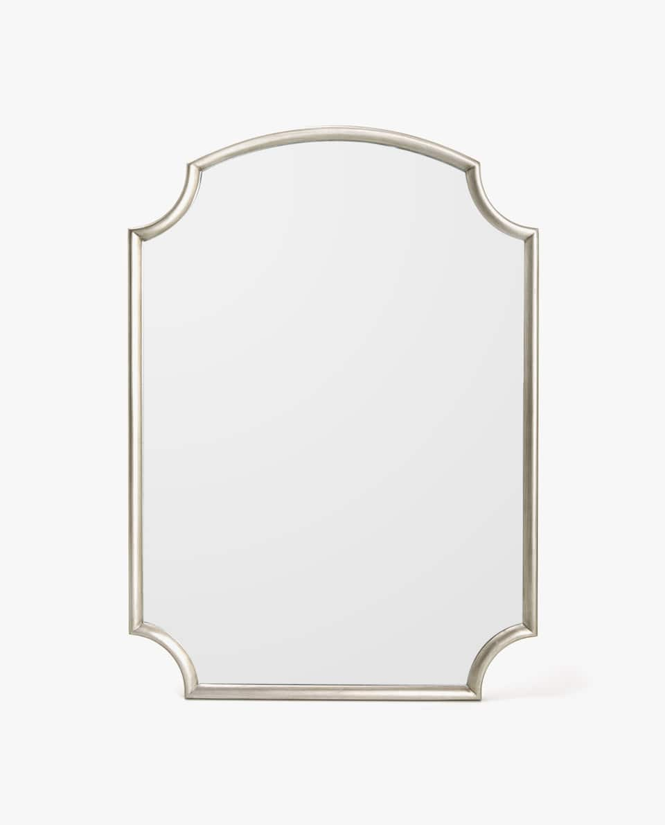 SILVER-TONED FRAME MIRROR