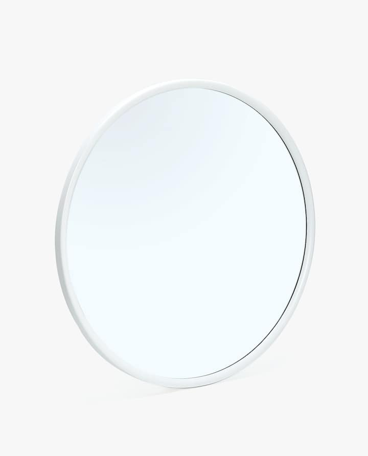 Image Of The Product Round Mirror With White Frame