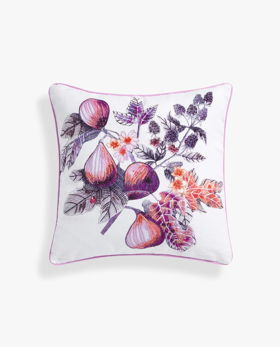 FIG PILLOW COVER