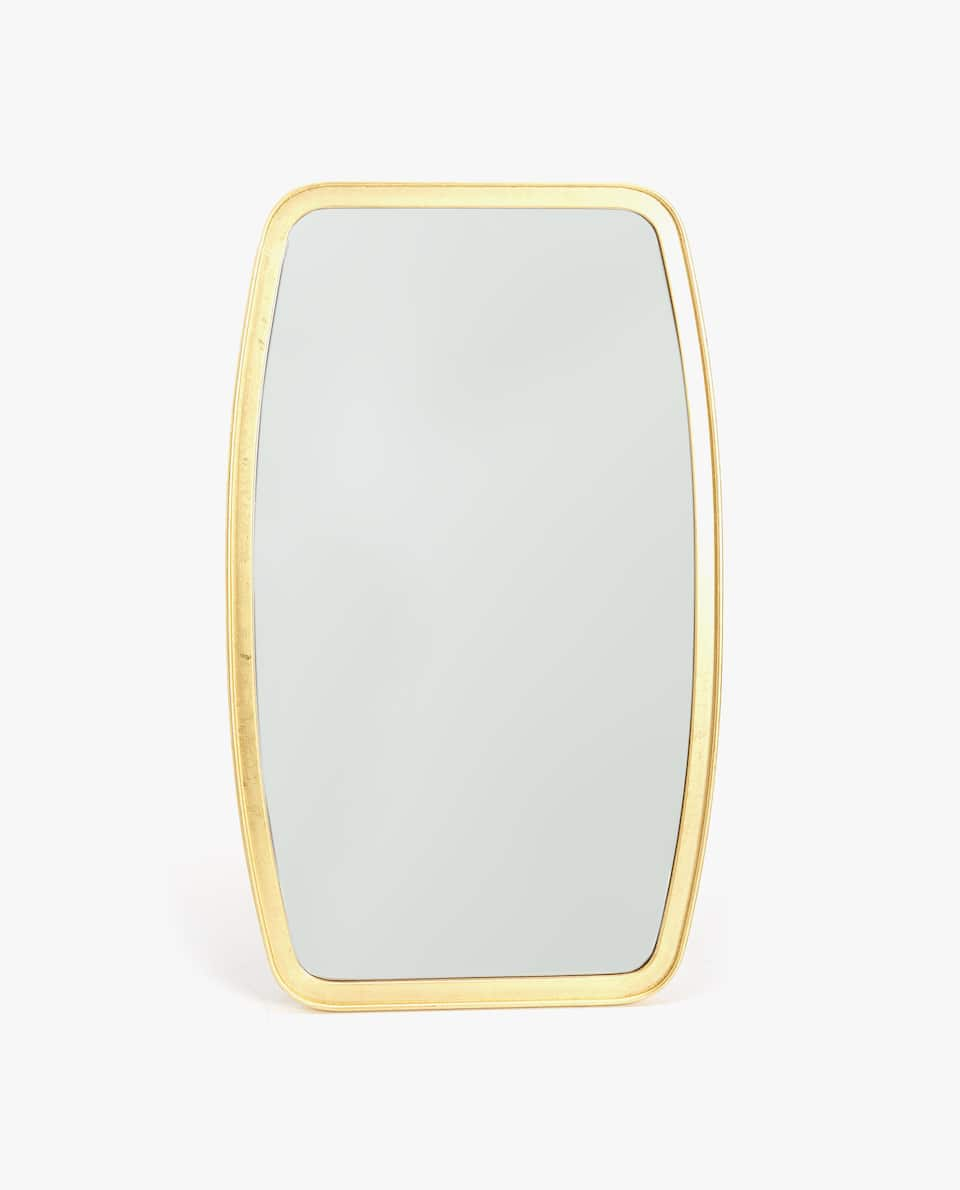 ROUNDED GILT MIRROR