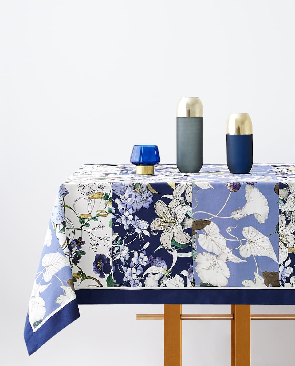 FLORAL PATCHWORK TABLECLOTH