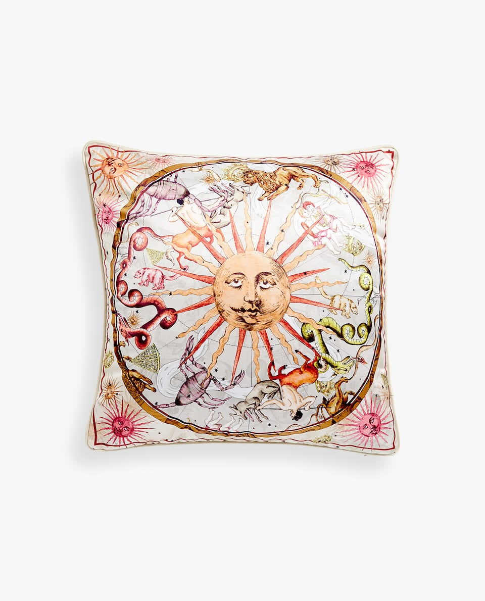 ZODIAC SATEEN CUSHION COVER