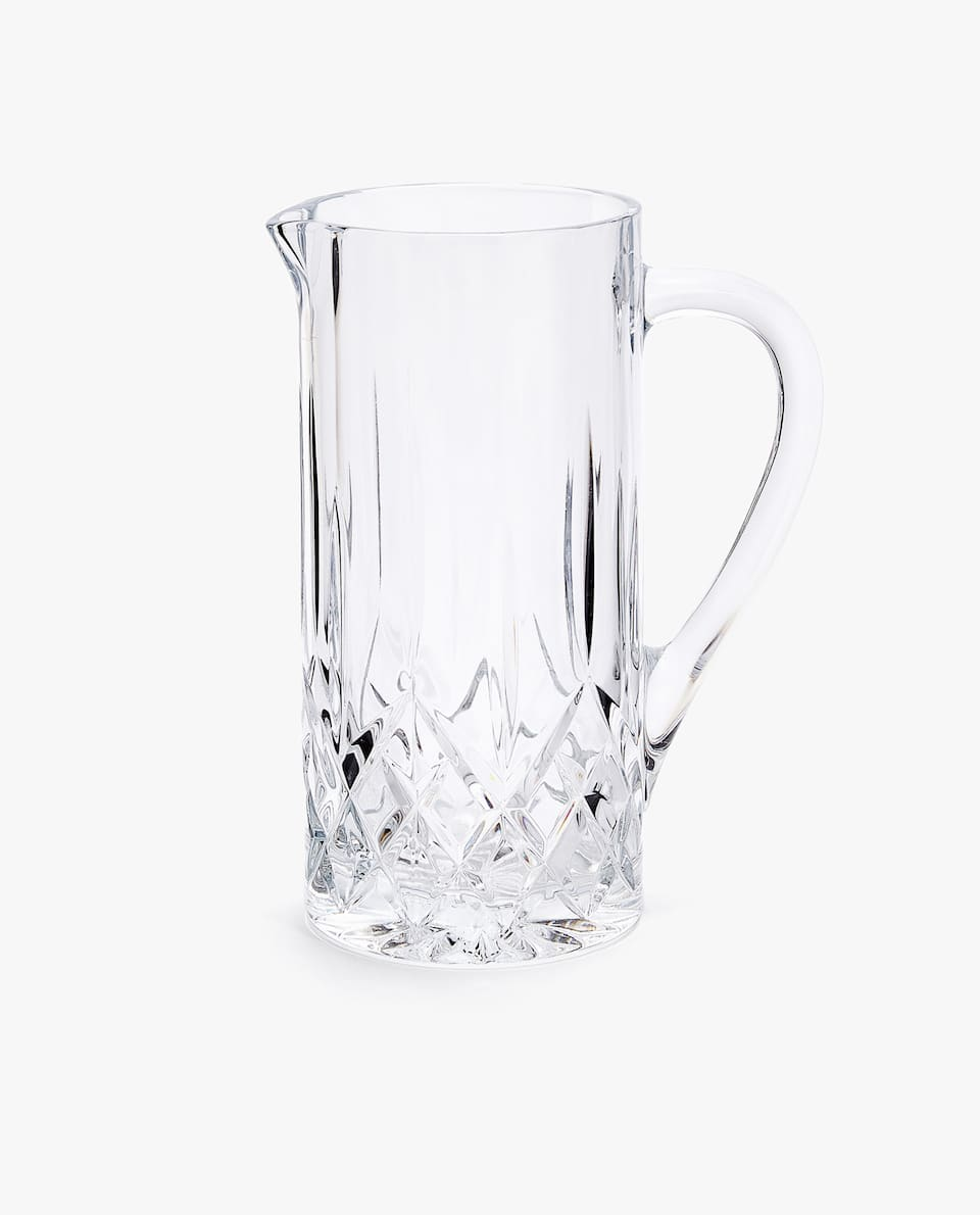 CUT TRANSPARENT PITCHER
