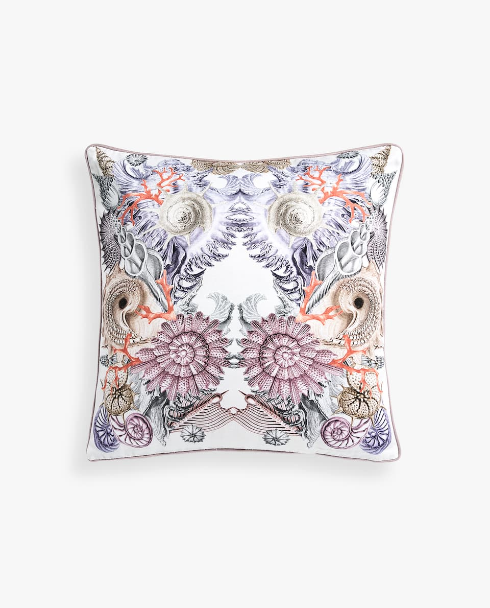FOSSIL PRINT PILLOW COVER