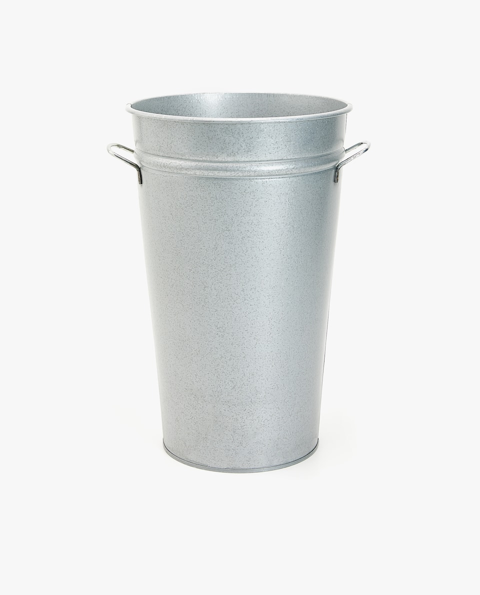 LARGE METALLIC BUCKET