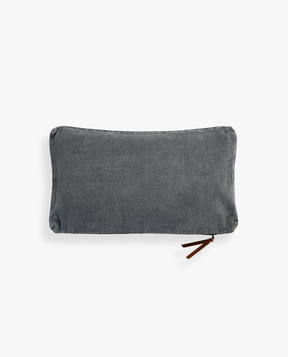SOLID COTTON THROW PILLOW COVER
