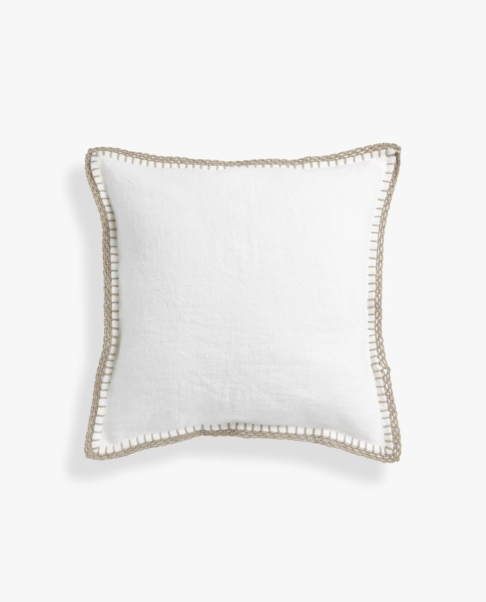 COARSE LINEN PILLOW COVER