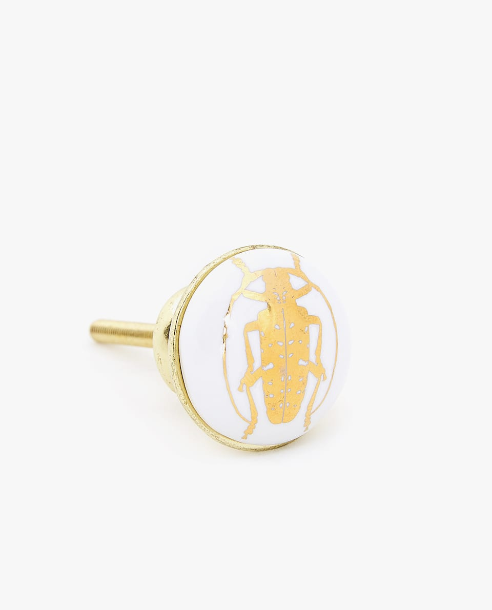 INSECT PRINT DOOR KNOB (PACK OF 2)