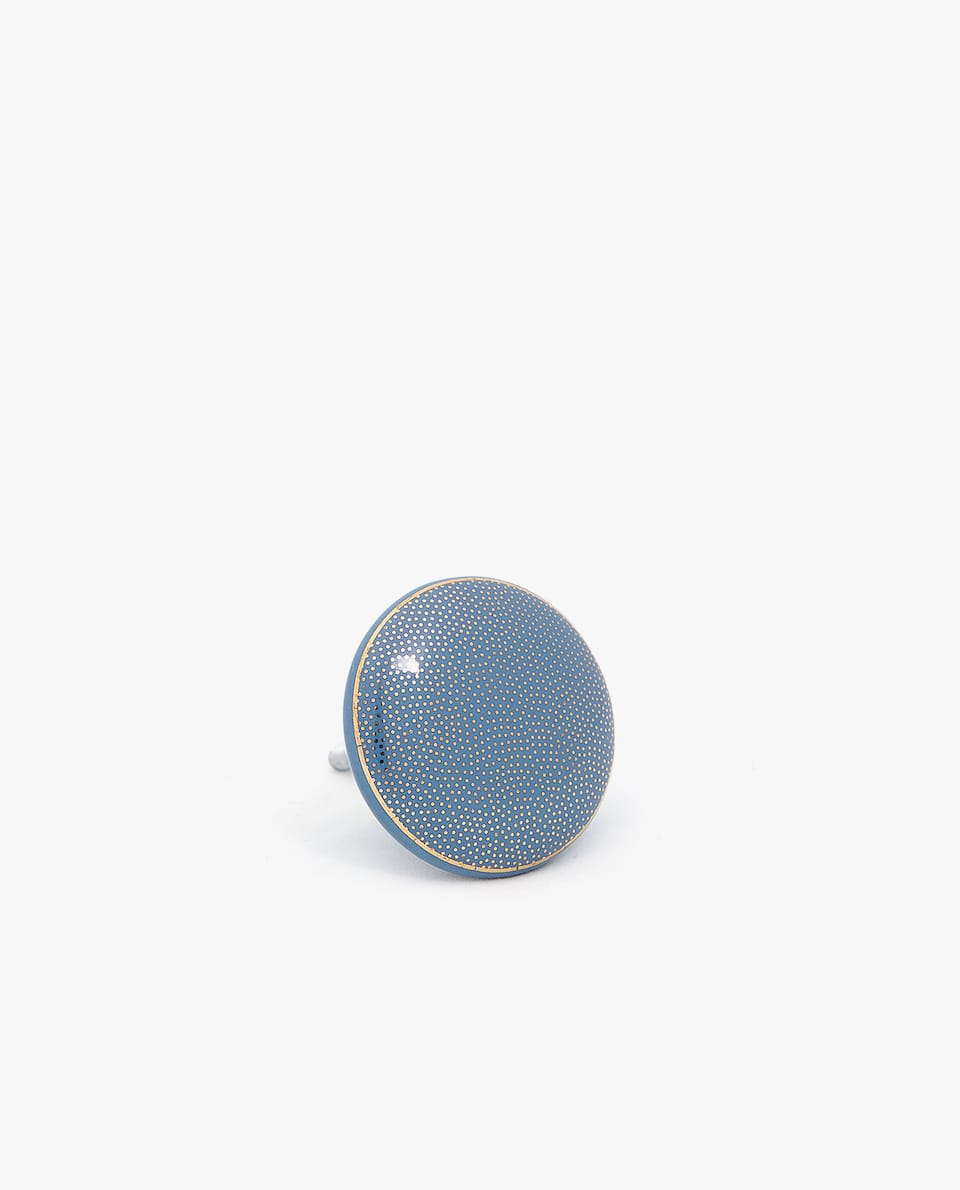 DOTTED CERAMIC DOOR KNOB (PACK OF 2)