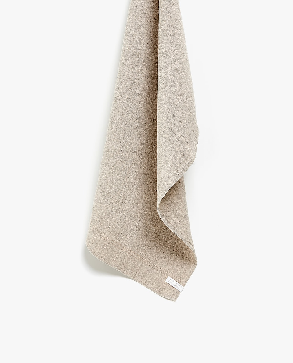 GREY WASHED LINEN TEA TOWEL