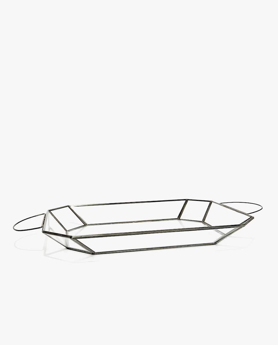 METAL AND GLASS TRAY