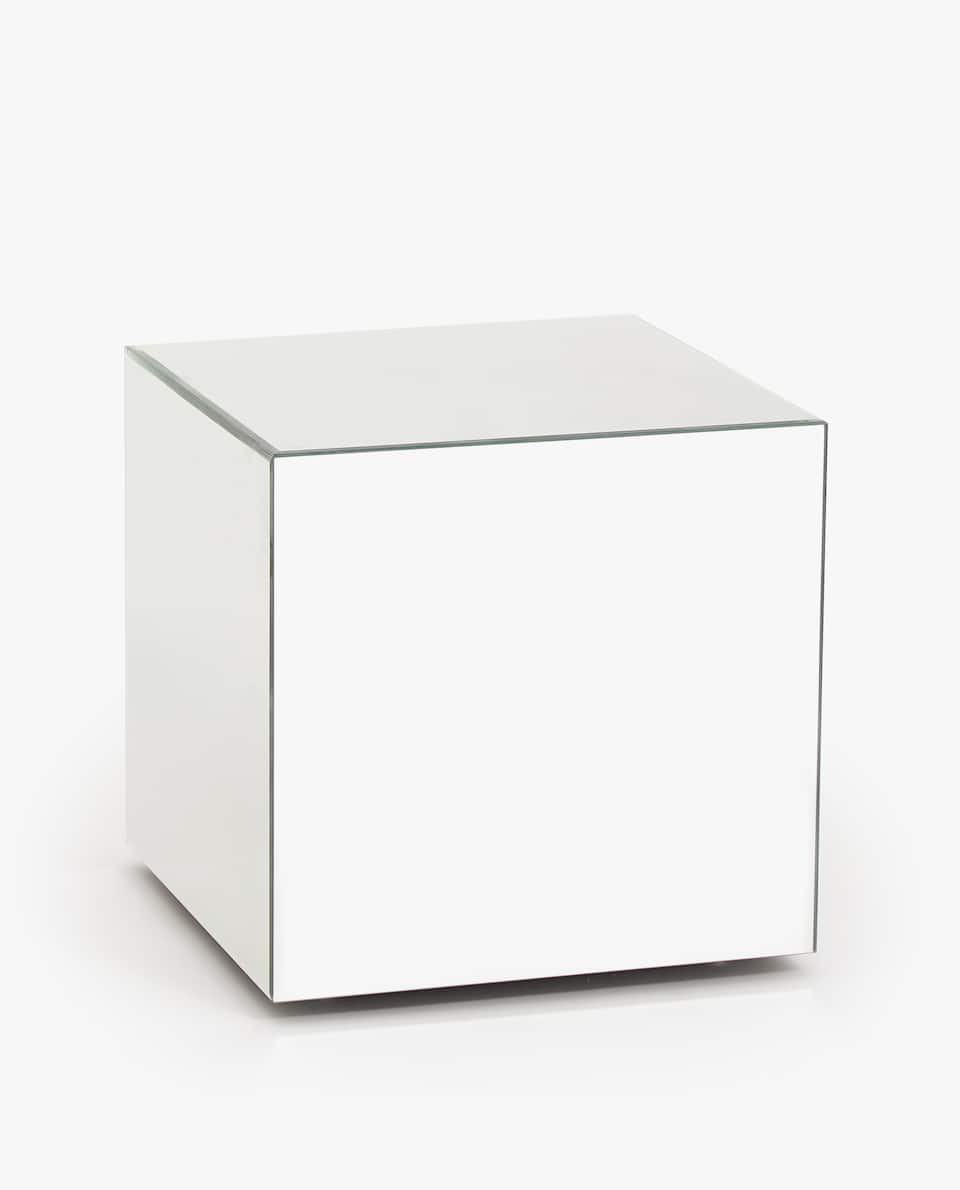 Incredible Mirrored Cube Table Dailytribune Chair Design For Home Dailytribuneorg