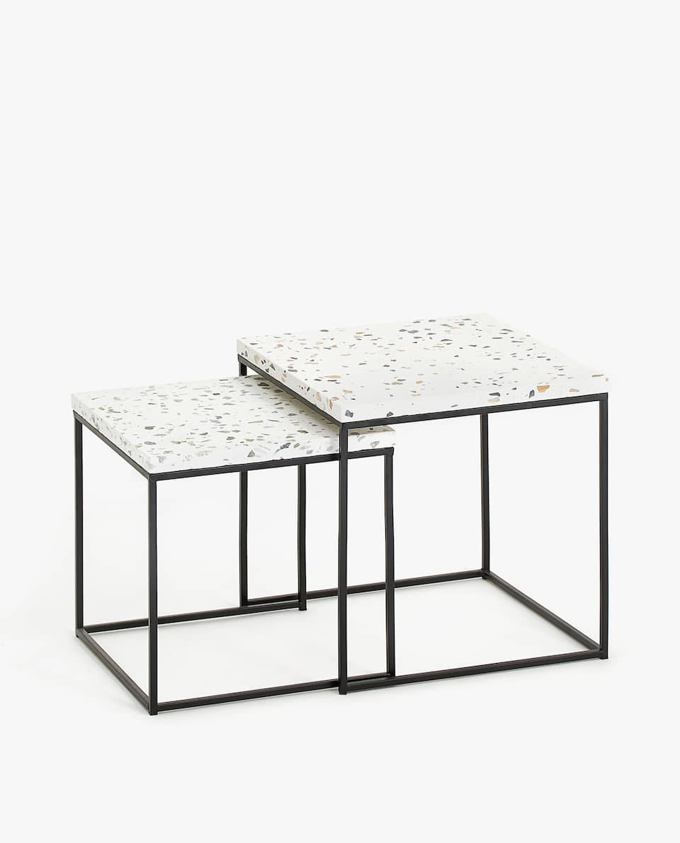 TERRAZZO NEST OF TABLES