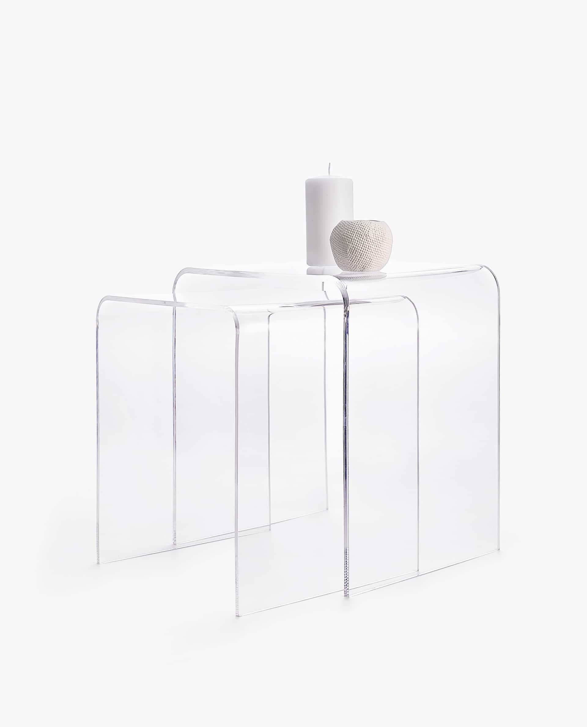 Tavolino Zara Home.Tavolini Nido Metacrilato Set Da 2
