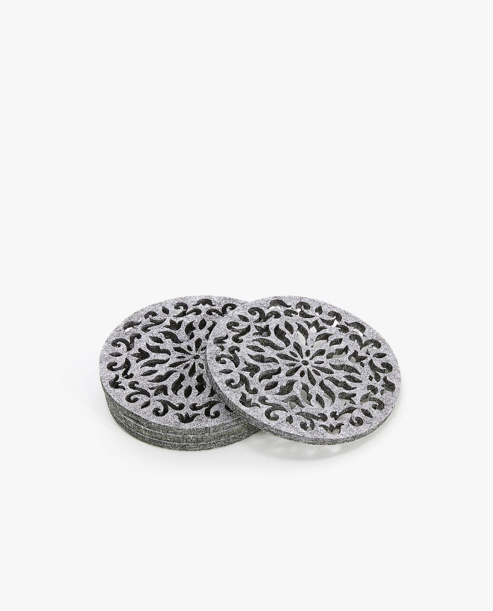 DIE-CUT FELT COASTER (PACK OF 4)