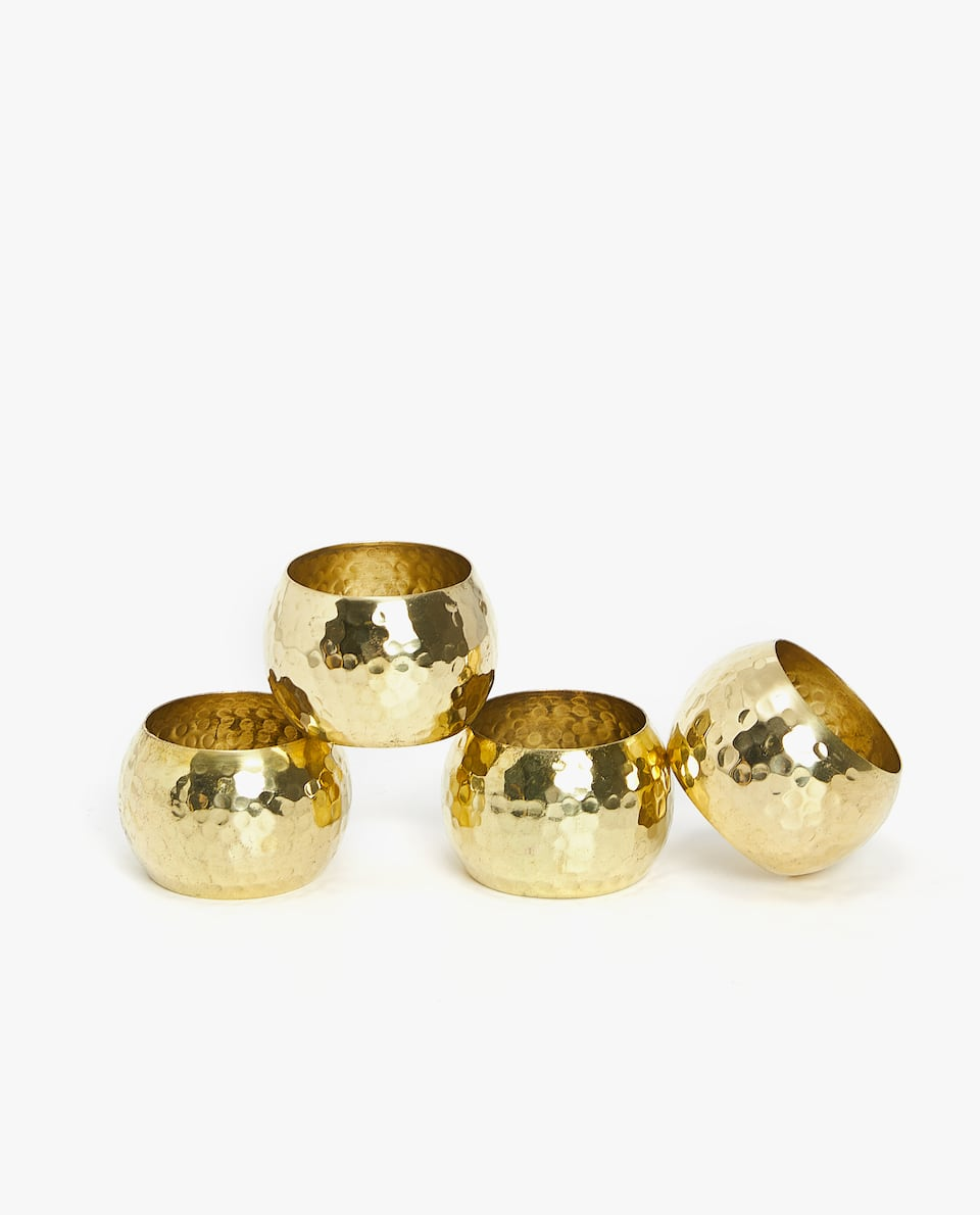 HAMMERED NAPKIN RING (PACK OF 4)