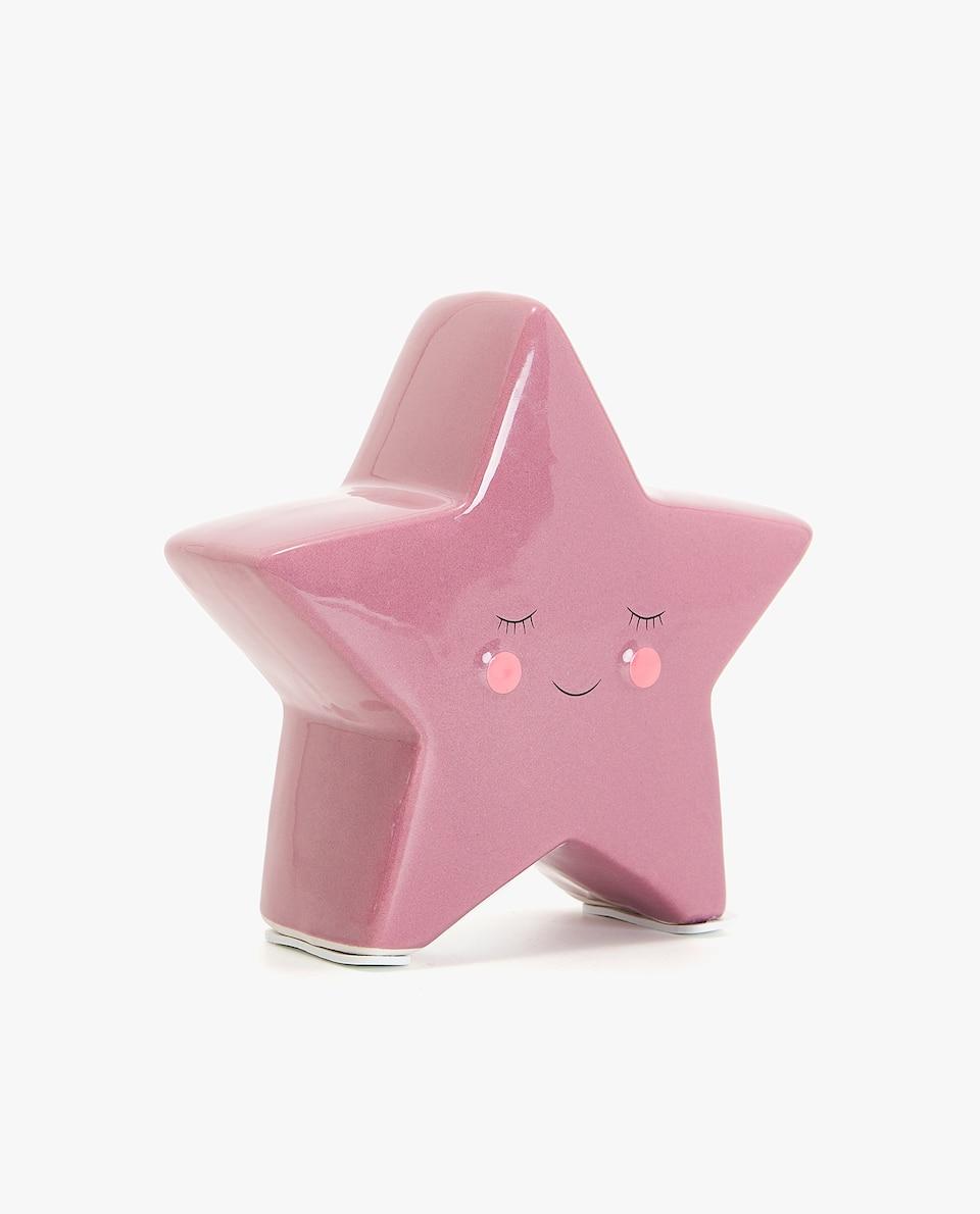 PINK STAR MONEY BOX