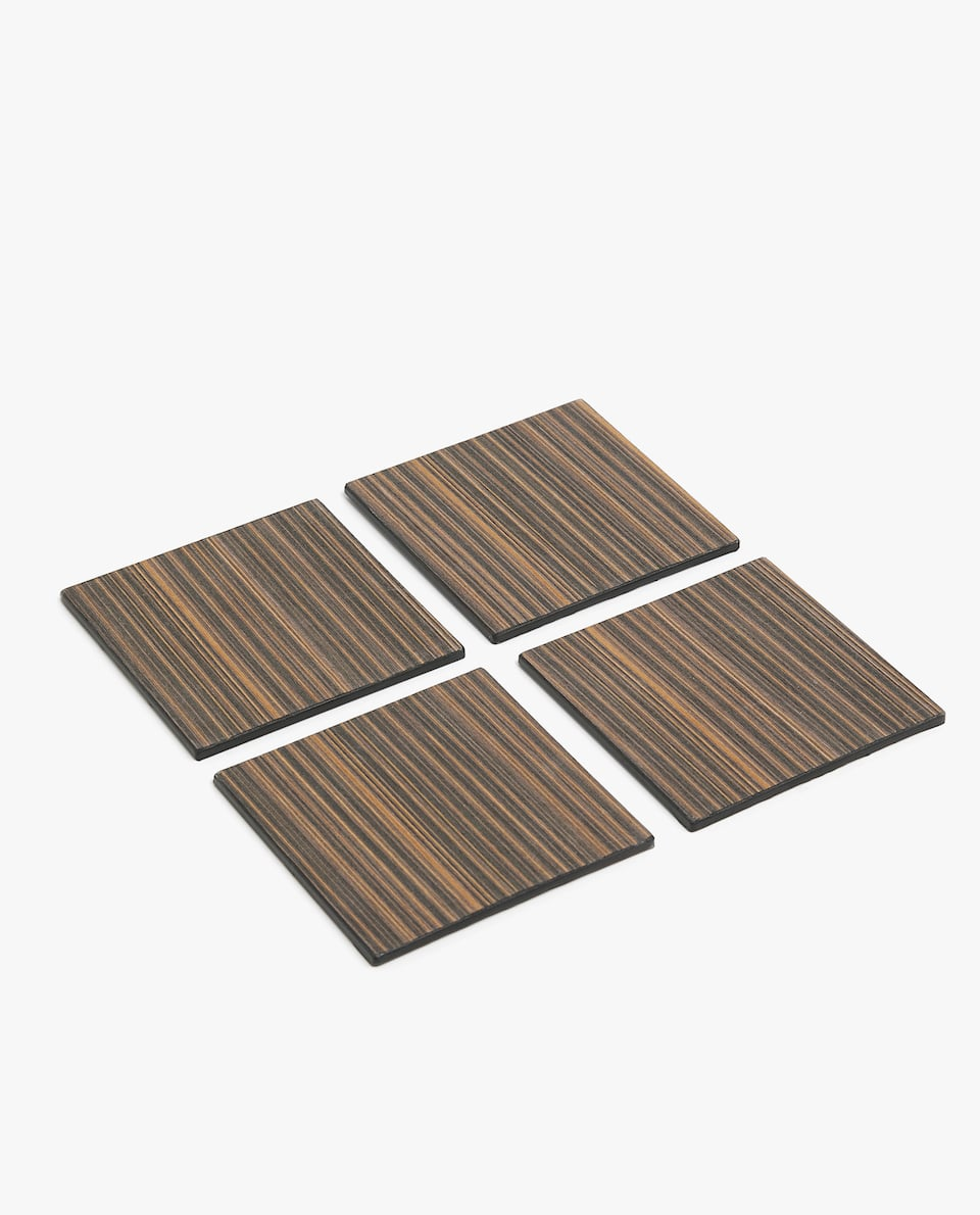 STRIPED PRINT COASTER (PACK OF 4)