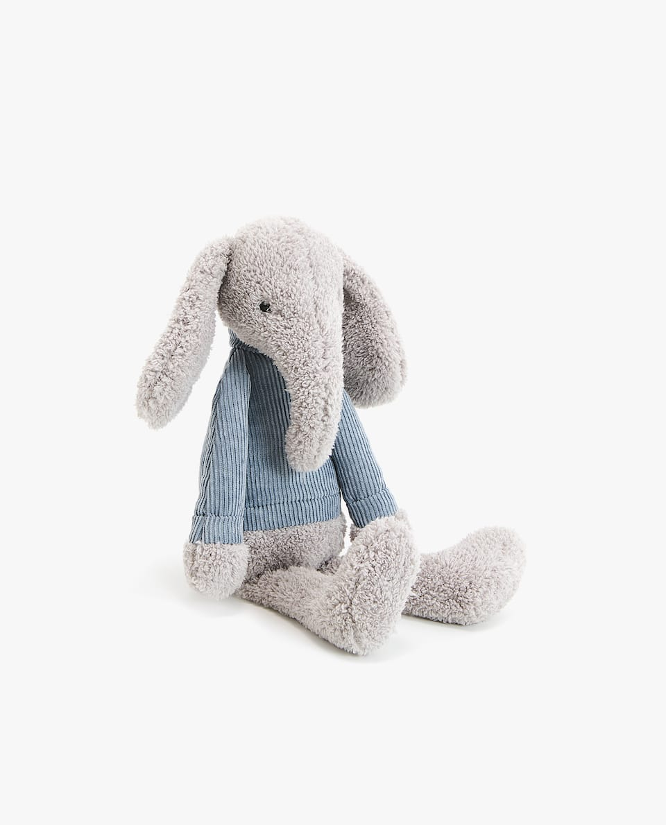 CORDUROY ELEPHANT SOFT TOY