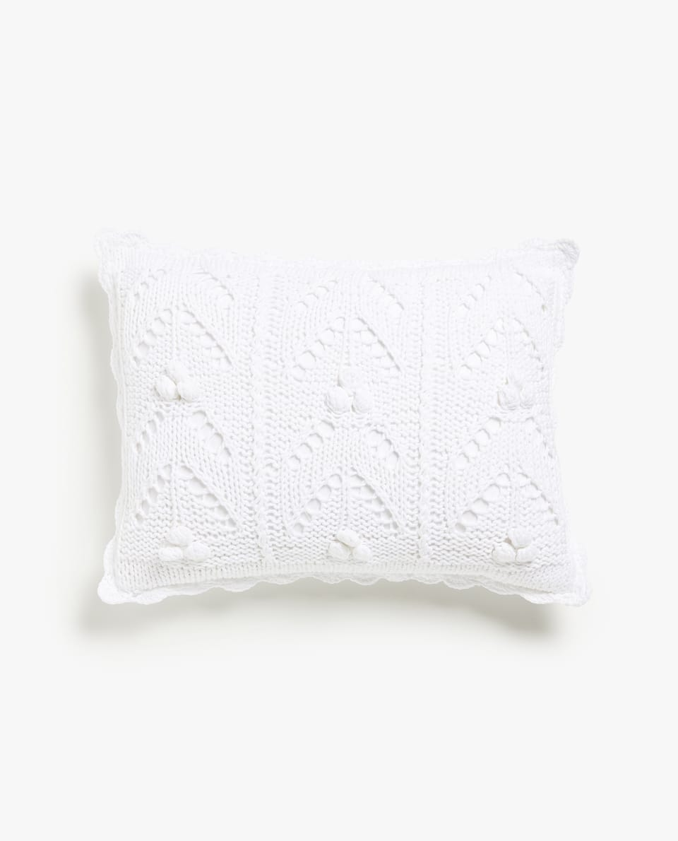 CROCHET CUSHION COVER