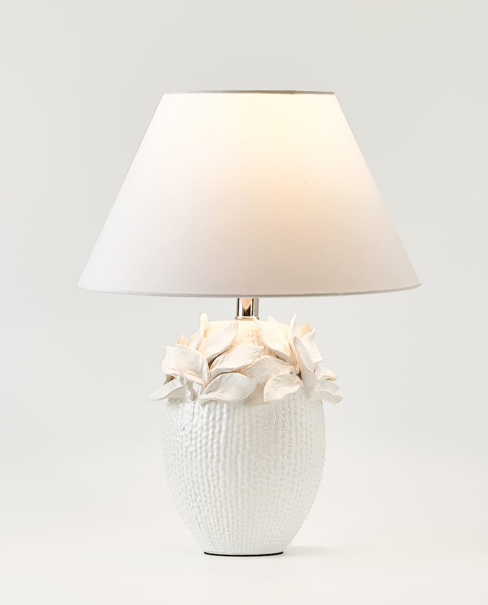 RAISED DESIGN CERAMIC LAMP