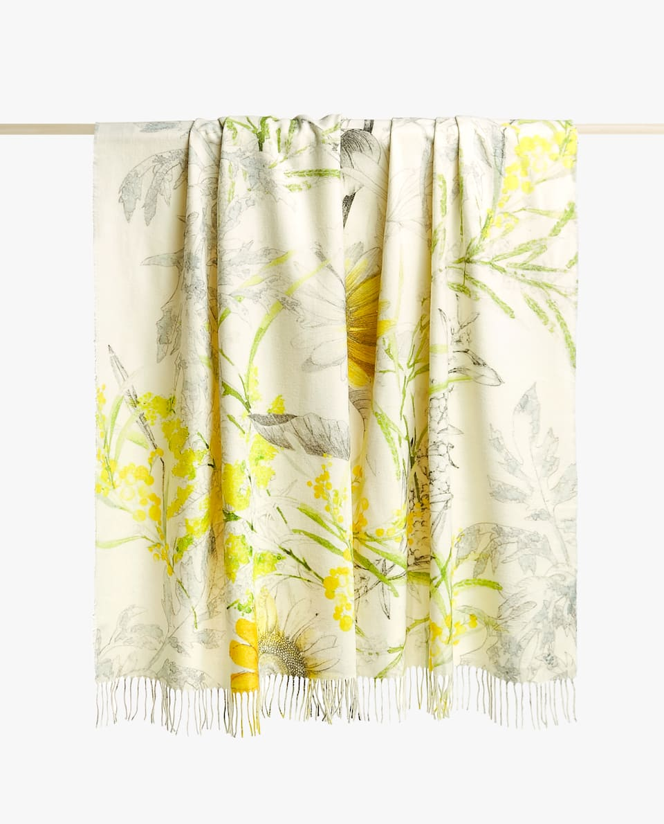 SUNFLOWERS PRINTED BLANKET