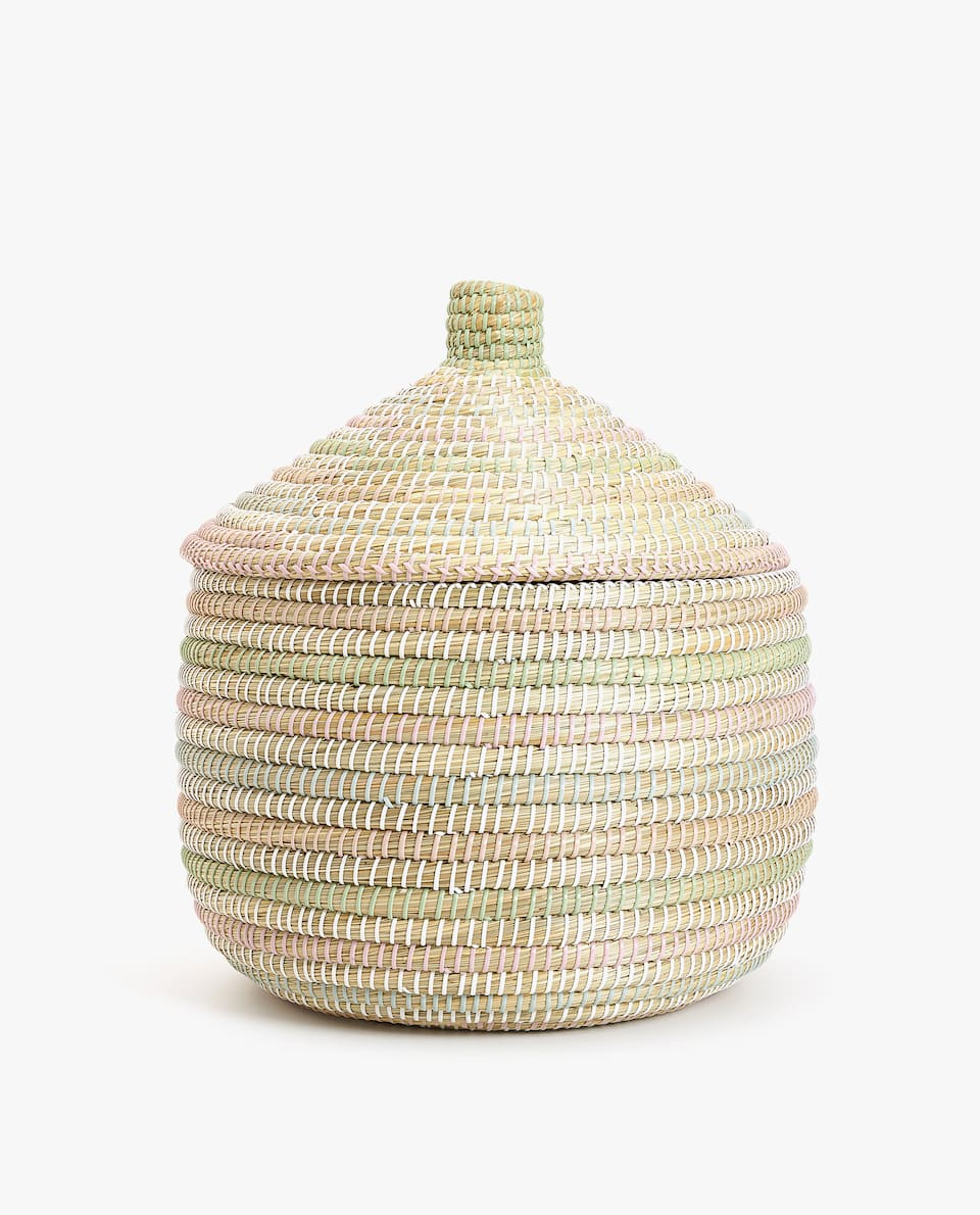 MULTICOLOURED OVAL BASKET
