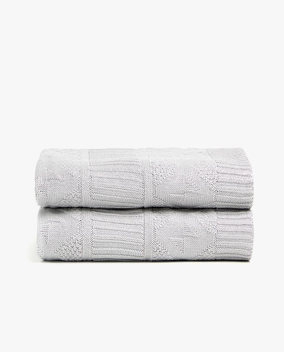 METALLIC-EFFECT COTTON BLANKET