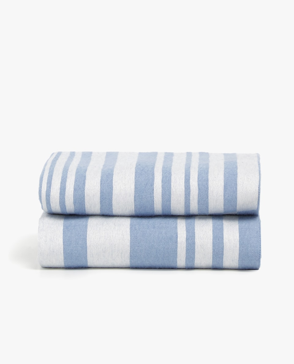 STRIPED JACQUARD BLANKET