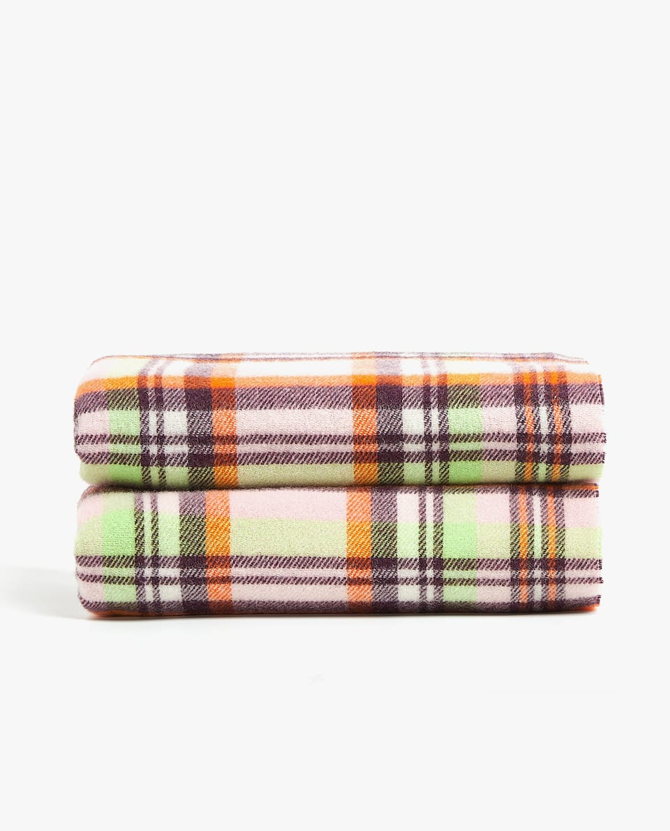 MULTICOLOURED CHECKED BLANKET