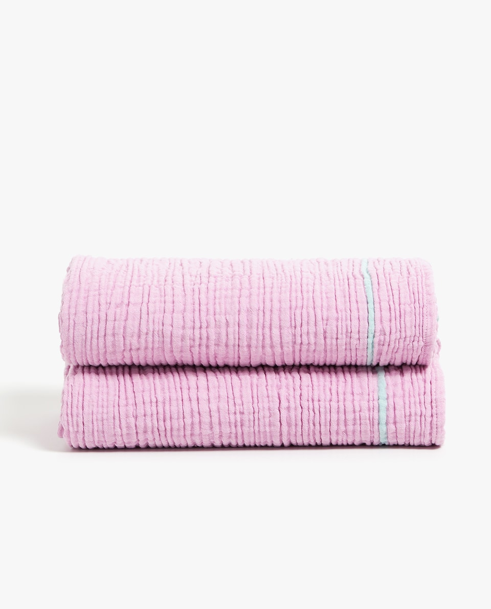 WRINKLE-EFFECT COTTON BLANKET