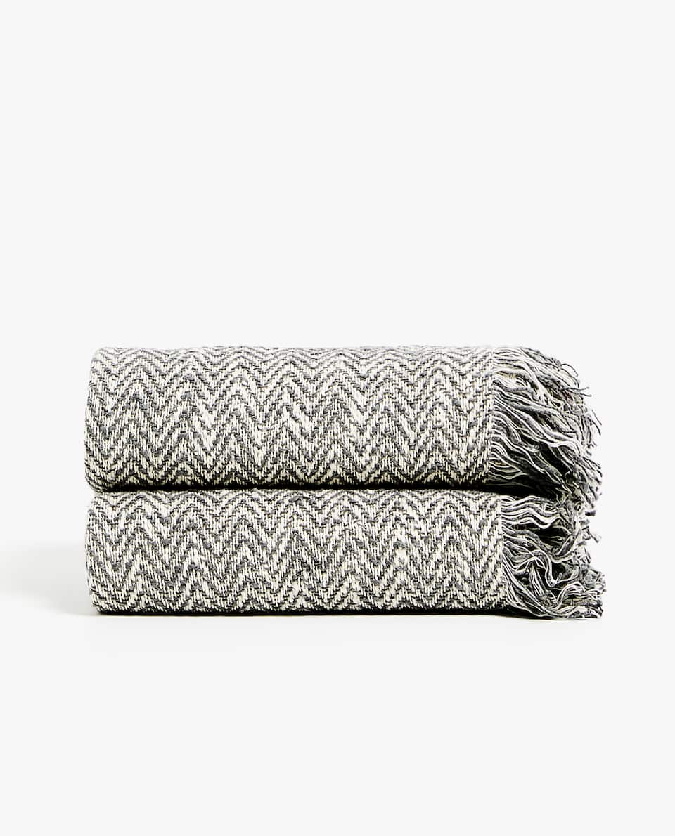 HERRINGBONE DESIGN BLANKET