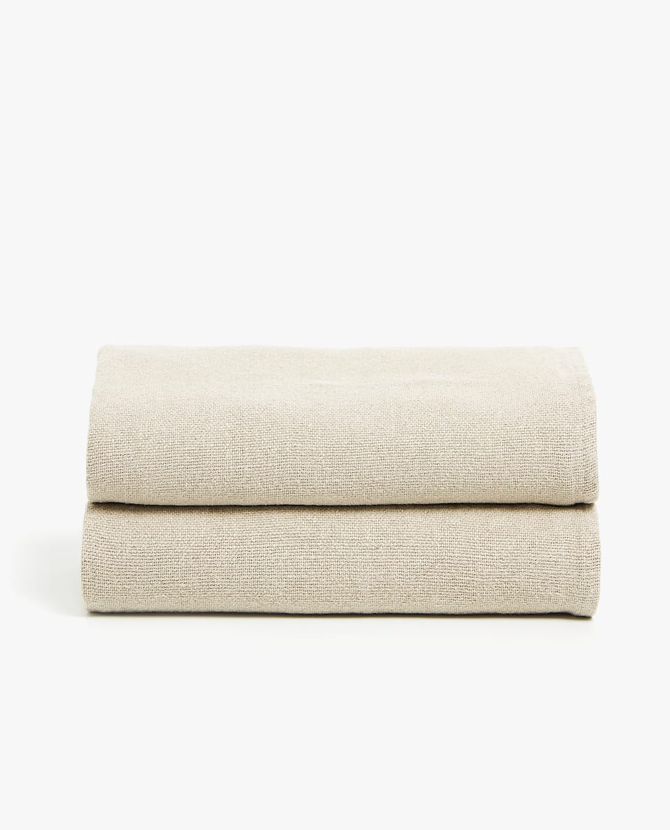 PLAIN LINEN AND JUTE BLANKET