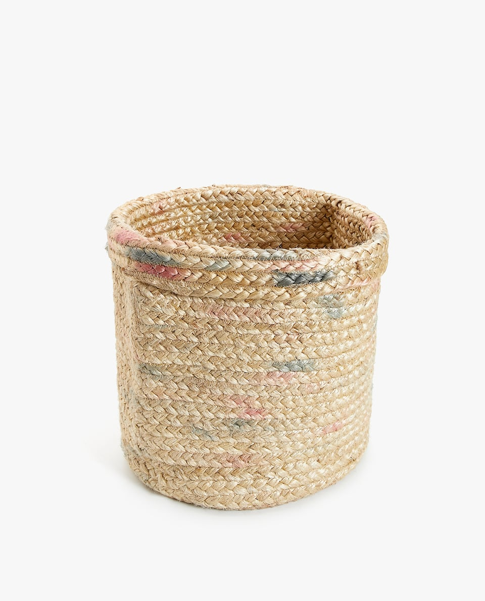 FLECKED ROUND BASKET