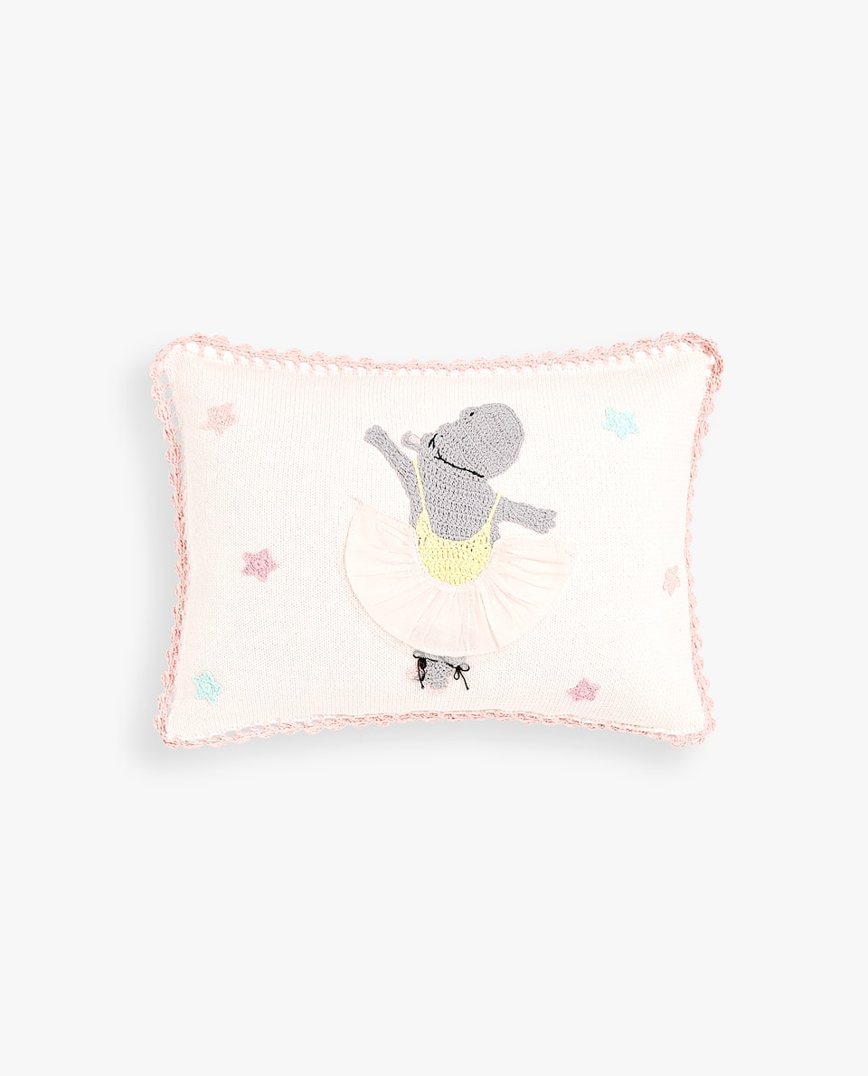 CROCHET BALLERINA CUSHION COVER