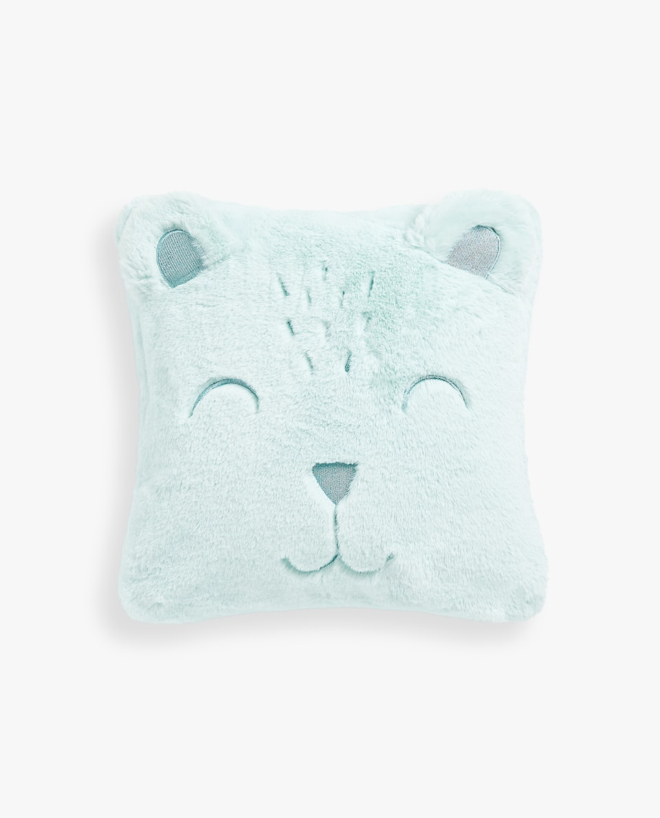 FAUX FUR BEAR CUSHION COVER