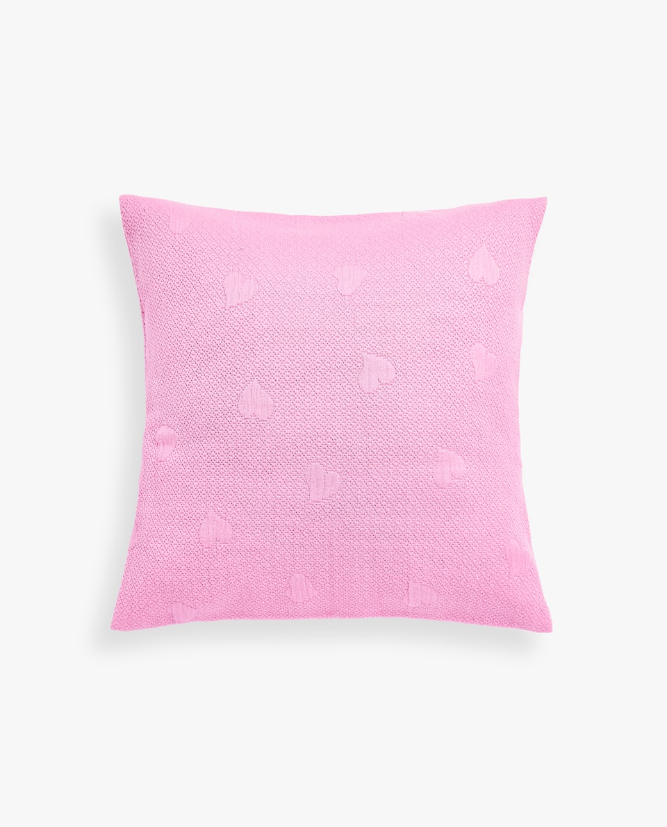 HEARTS COTTON CUSHION COVER