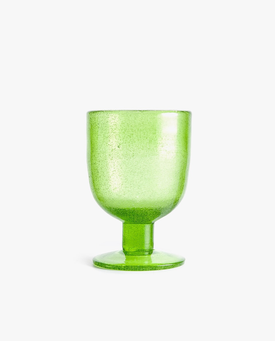 BUBBLE-EFFECT WINE GLASS