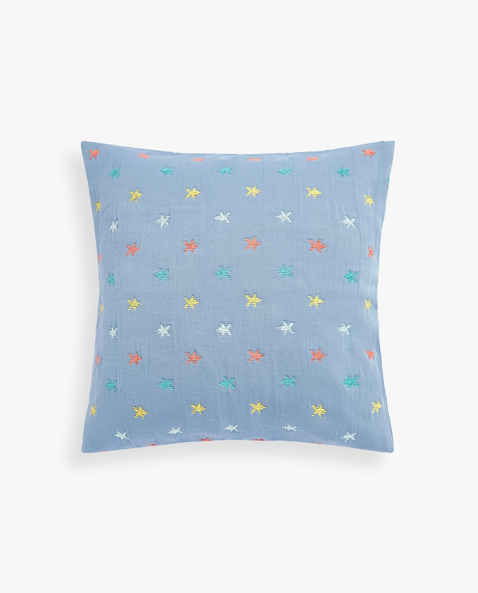 MULTICOLOURED STARS COTTON CUSHION COVER