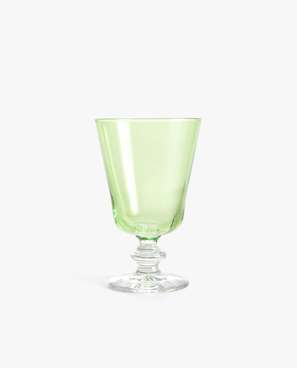 COLOURED WINE GLASS