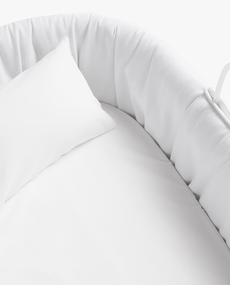 COTTON PERCALE MOSES BASKET FITTED SHEET (PACK OF 2)