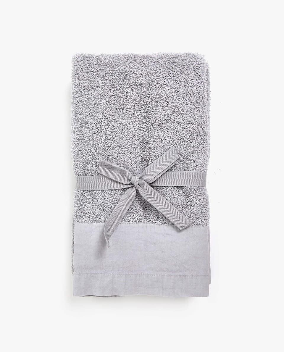 WASHED-EFFECT TOWEL (SET OF 2)