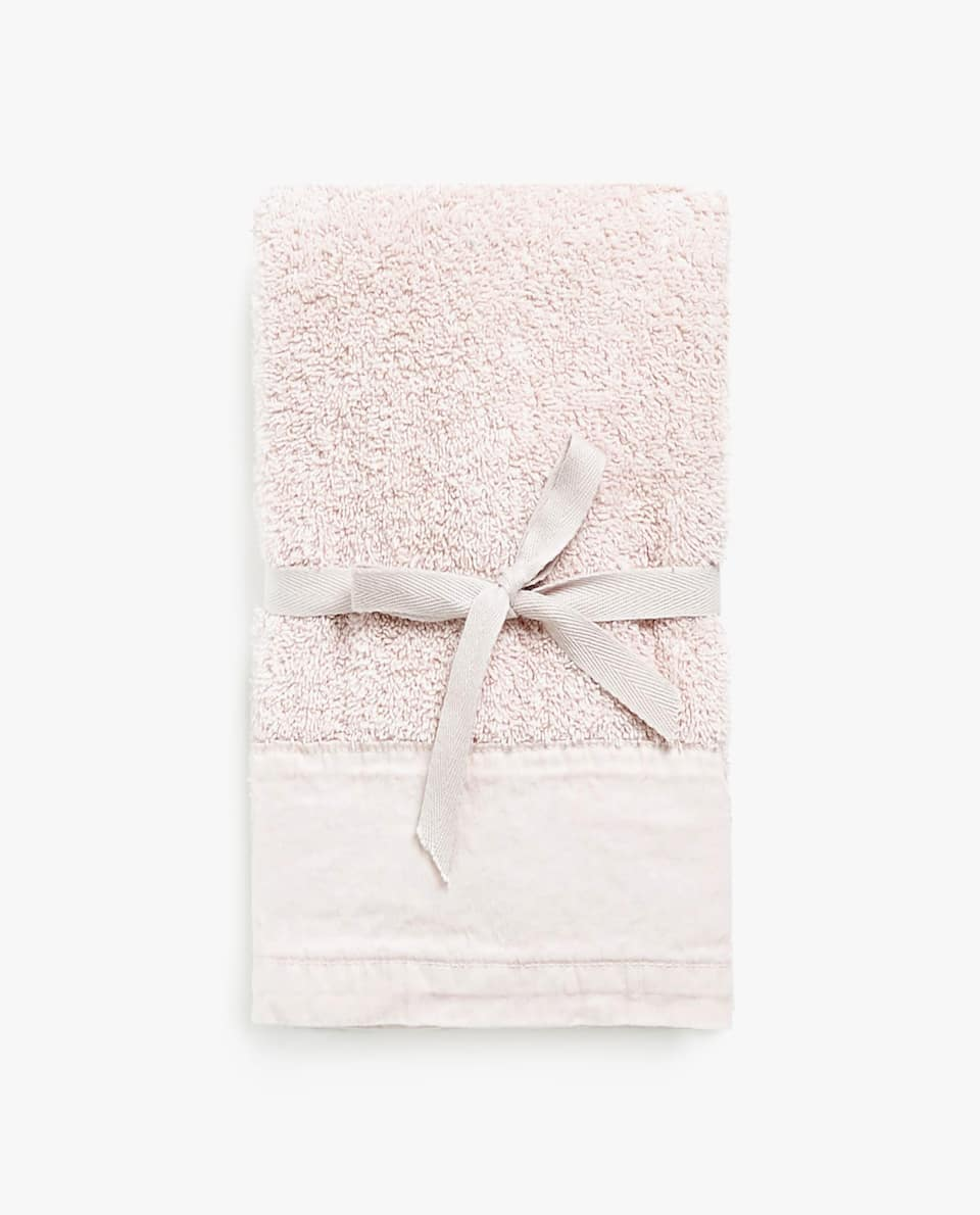 WASHED-EFFECT TOWEL (SET OF 2)