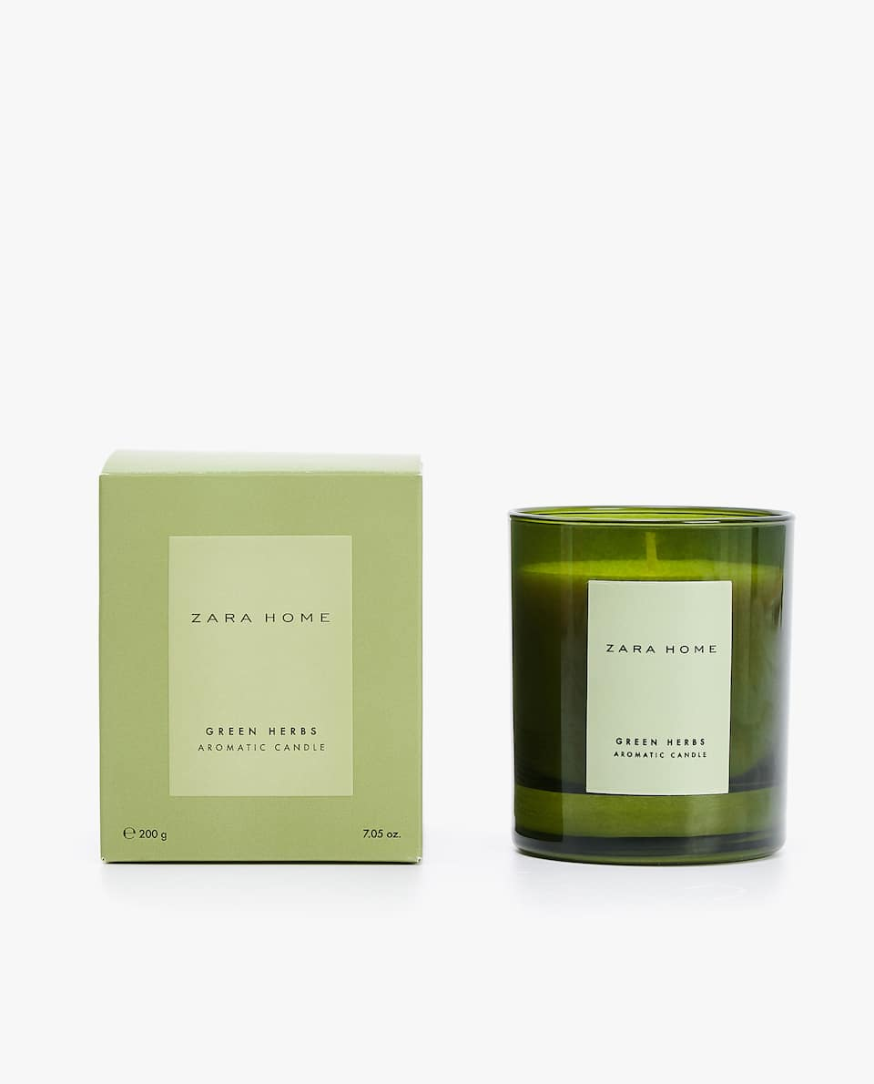 GREEN HERBS SCENTED CANDLE