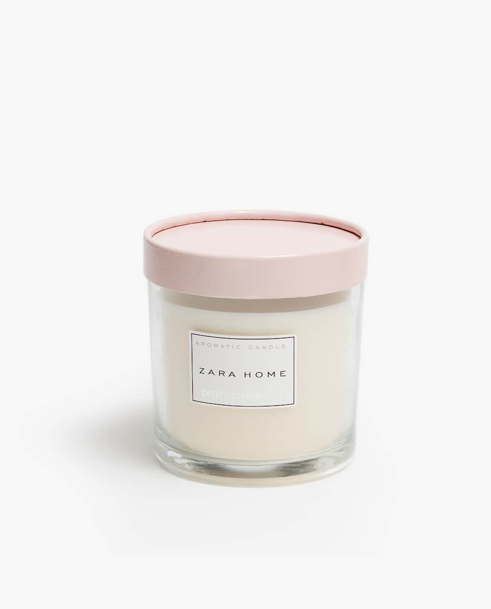 PURE GARDENIA CYLINDER CANDLE