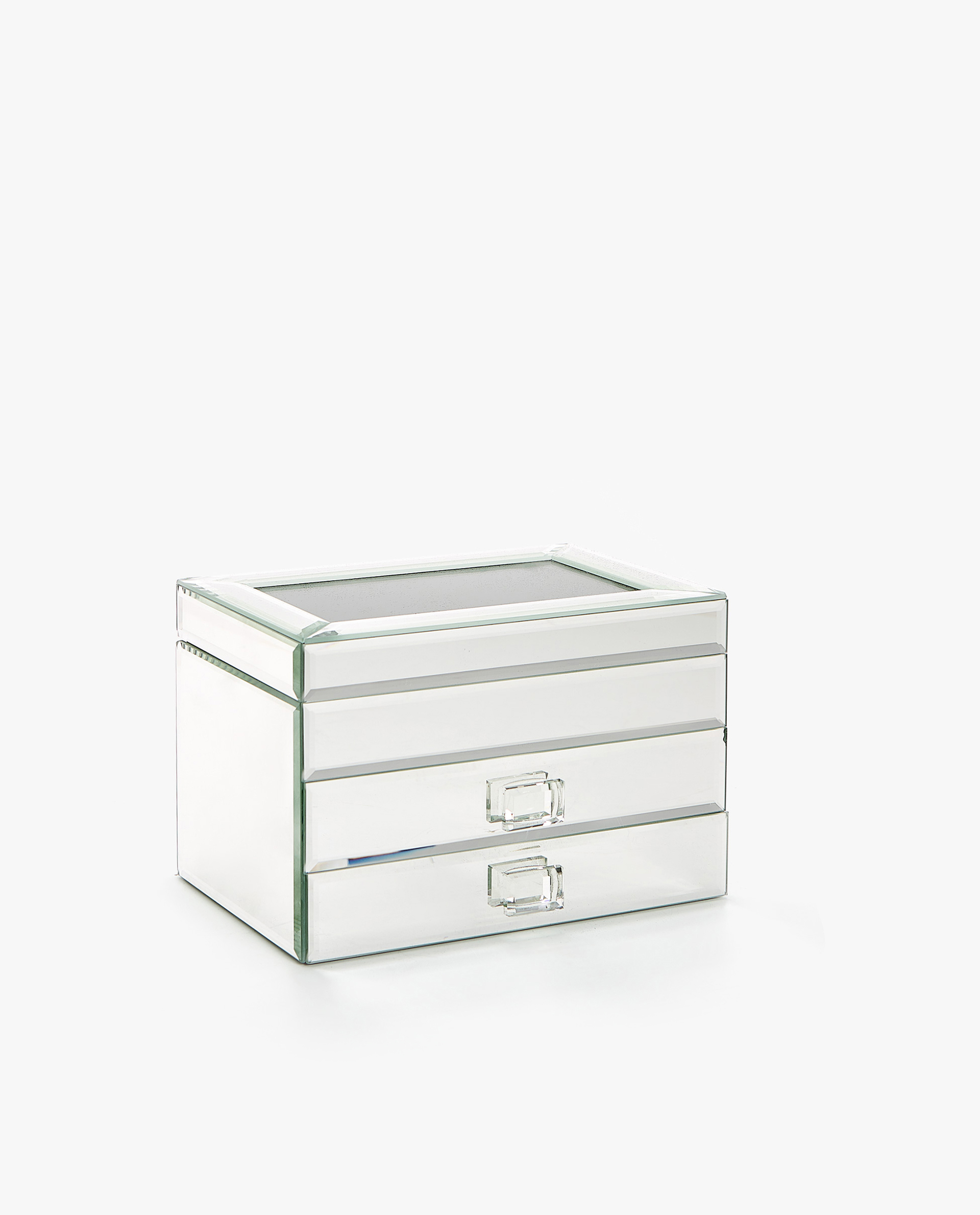 Image 1 Of The Product Mirrored Jewellery Box With Drawers