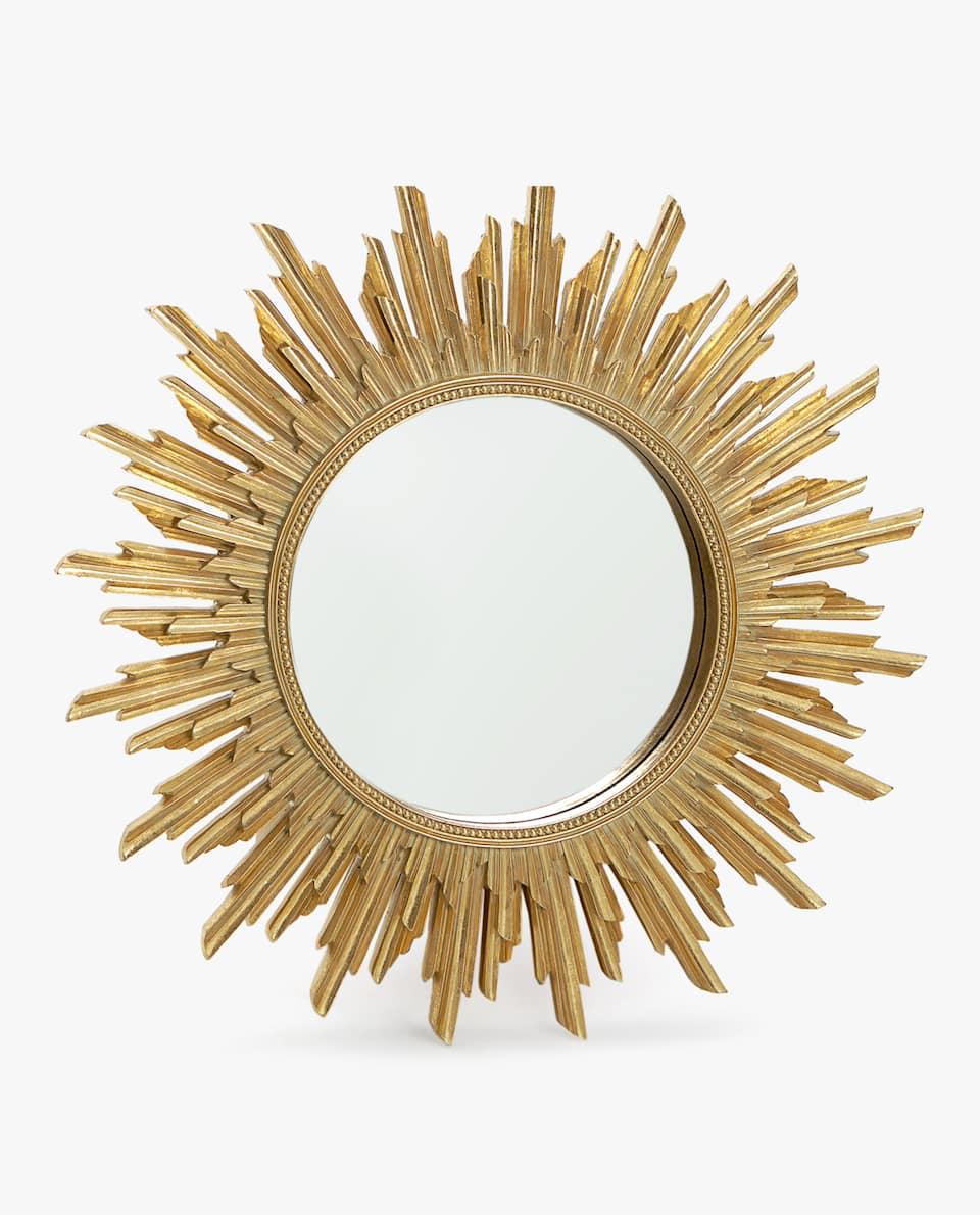 Large Sun Shaped Mirror