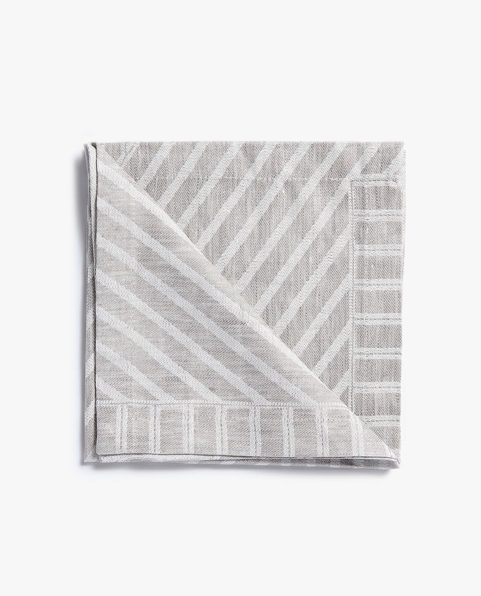 LINEN JACQUARD NAPKIN (PACK OF 4)