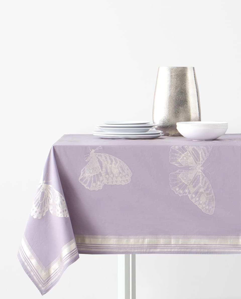BUTTERFLY PRINT TABLECLOTH